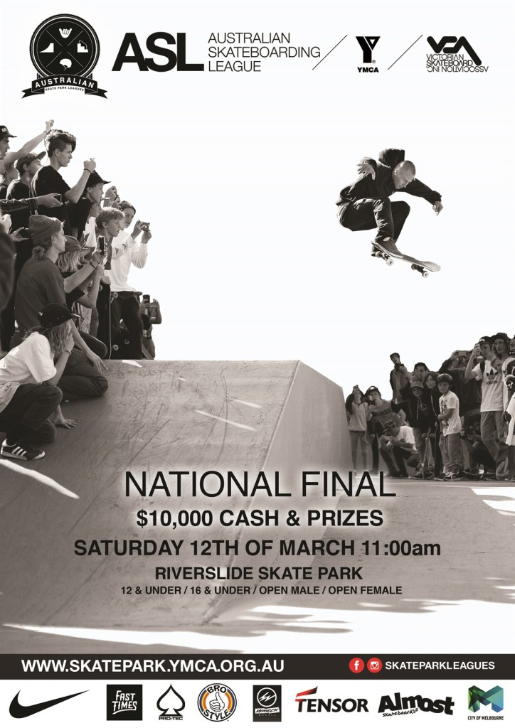 AUSTRALIAN SKATEBOARDING LEAGUE NATIONAL FINAL 2015-16