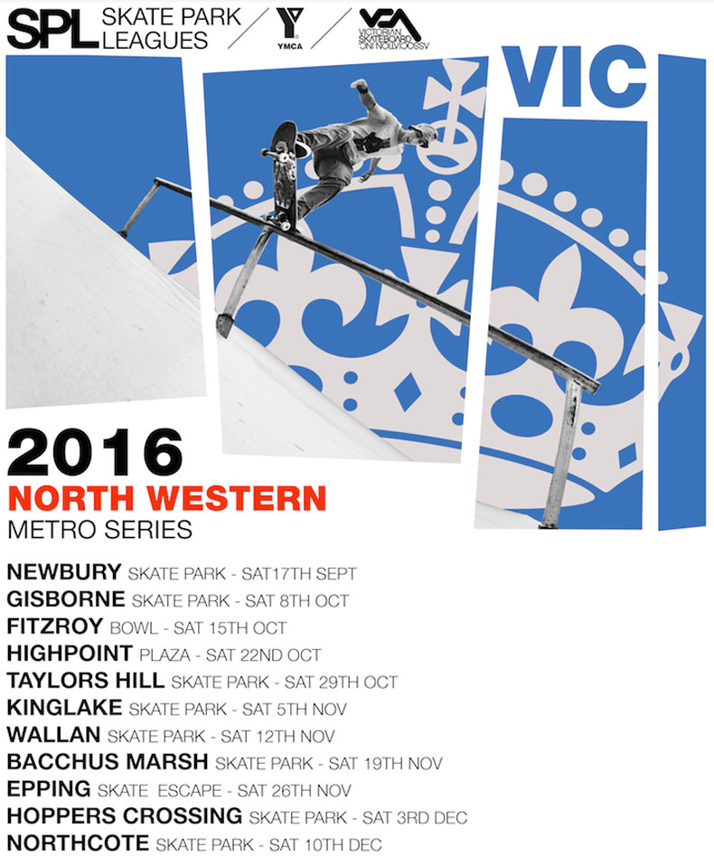 2016 VICTORIAN SKATE PARK LEAGUE SERIES