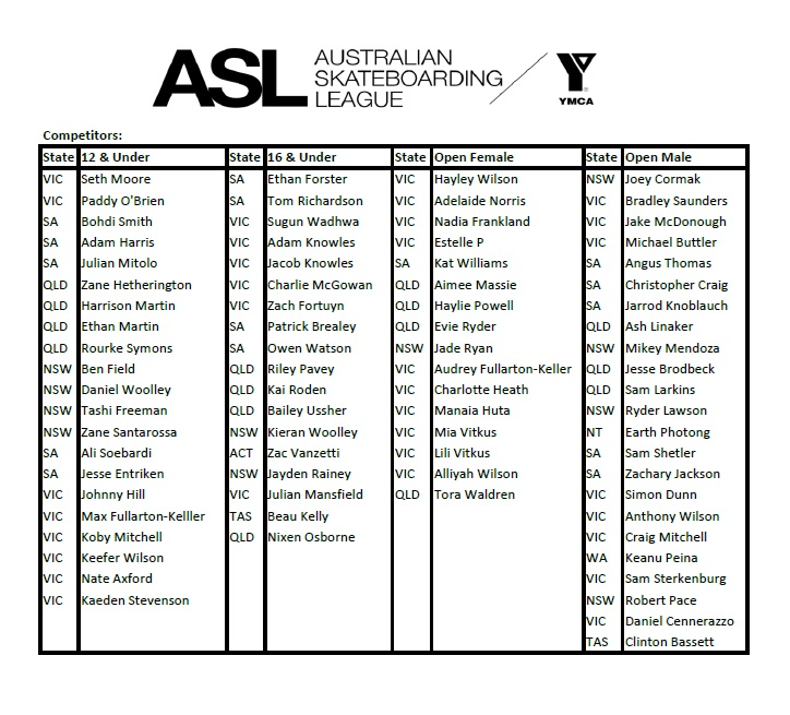 ASL2017entrants
